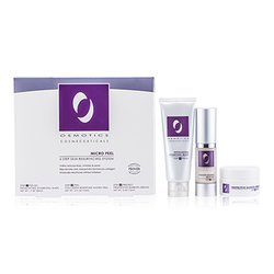 Osmotics Micro Peel Skin Resurfacing System: Exfoliating Charcoal Mask 50ml/1.7oz + Collagen Boosting Micro Peel 15ml/0.5oz + Protective Barrier Cream 15ml/0.5oz  3pcs