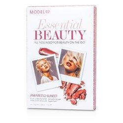 ModelCo Essential Beauty (1x Blush Cheek Powder, 1x Shine Ultra Lip Gloss) - Amaretto Sunset  2pcs