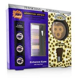Physicians Formula Makeup Set 8660: 1x Shimmer Strips Eye Enhancing Shadow, 1x Bontanical Bronzer, 1x Applicator  3pcs