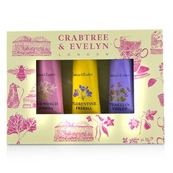 Crabtree & Evelyn Heritage Hand Therapy Set (1x Old World Jasmine, 1x Florentine Freesia, 1x Venitian Violet)  3x25g/0.9oz