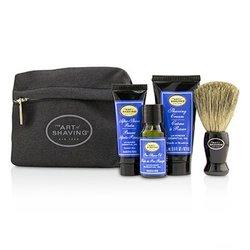 The Art Of Shaving Starter Kit - Lavender: Pre Shave Oil + Shaving Cream + After Shave Balm + Brush + Bag  4pcs + 1 Bag
