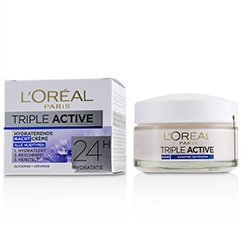 L'Oreal Triple Active Hydrating Night Cream 24H Hydration - For All Skin Types  50ml/1.7oz