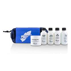 Baxter Of California Travel Starter Kit: Face Wash + Shave Formula + Moisturizer + Shave Balm + Shampoo + Bag (Packaging Slightly Defected)  5pcs + 1 Bag