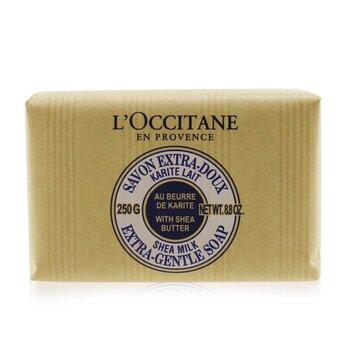 לאוקסיטן סבון עדין של חמאת שיאה-חלב.  250g/8.8oz