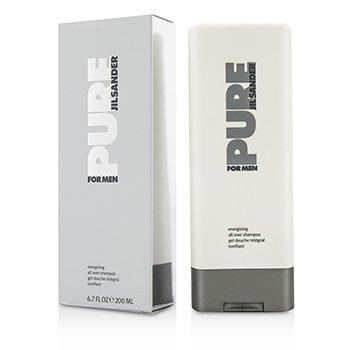Jil Sander Żel do mycia ciała i włosów Pure For Men Energizing All Over Shampoo  200ml/6.7oz