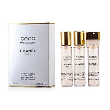 Chanel Coco Mademoiselle Twist & Spray Тоалетна Вода Пълнител  3x20ml/0.7oz