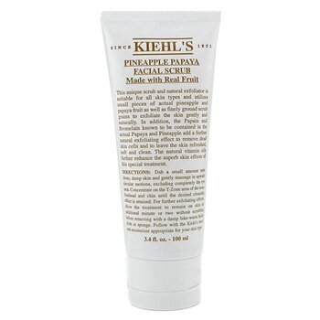 Kiehl's Pineapple Papaya Facial Scrub w/ Real Fruit Extracts - Pembersih  100ml/3.4oz