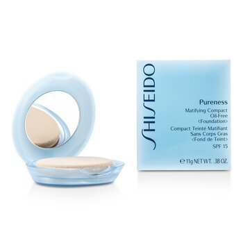 Shiseido Pureness Matifying Compact Oil Free Foundation SPF15 (Case + Refill) - # 30 Natural Ivory  11g/0.38oz