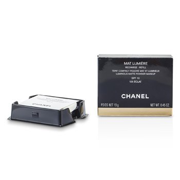 Chanel Mat Lumiere Luminous Matte Powder Makeup Refill SPF10 - # 125 Eclat  13g/0.45oz