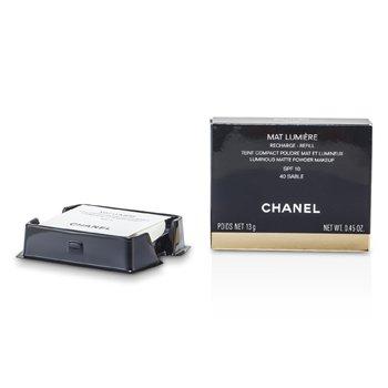 Chanel Mat Lumiere Luminous Matte Powder Makeup Refill SPF10 - # 40 Sable  13g/0.45oz