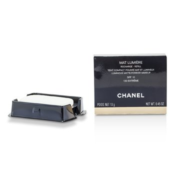 Chanel Mat Lumiere Luminous Matte Maquillaje Polvos Recambio SPF10 - # 130 Extreme  13g/0.45oz