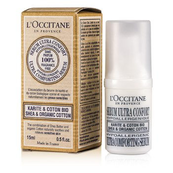 L'Occitane Shea & Organic Cotton Ultra Comforting Soro  15ml/0.5oz
