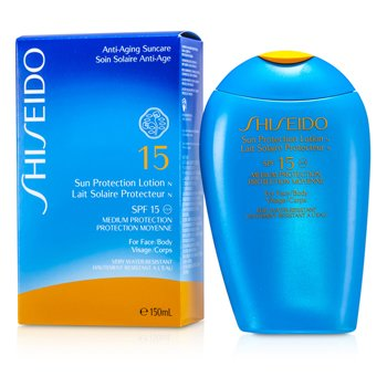 Shiseido Sun Protection Lotion N SPF 15 ( Para Cuerpo y Rostro )  150ml
