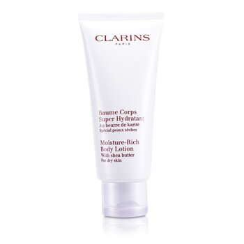 Clarins Moisture Rich Body Lotion with Shea Butter - Dry Skin  200ml/7oz