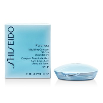 Shiseido Pureness Matifying Compact Oil Free Foundation SPF15 (Case + Refill) - # 60 Natural Bronze  11g/0.38oz