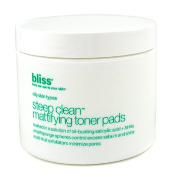 Bliss Steep Clean Mattifying Toner Pads  50pads