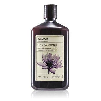 Ahava Mineral Botanic Jabón Crema Aterciopelado - Lotus Flower & Chestnut ( Piel Sensible )  500ml/17oz
