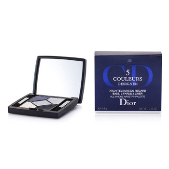 Christian Dior 5 Color Designer All In One Artistry Palette - No. 208 Navy Design  4.4g/0.15oz