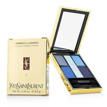 Yves Saint Laurent Ombres 5 Lumieres (5 Colour Harmony for Eyes) - No. 05 Riviera  8.5g/0.29oz