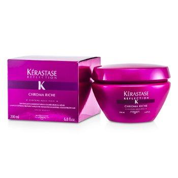 Kerastase Kerastase Reflection Chroma Riche Parlatıcı , Yumuşatıcı Bakım Maskesi (Röfleli veya Hassas, Boyalı Saçlar İçin)  200ml/6.8oz