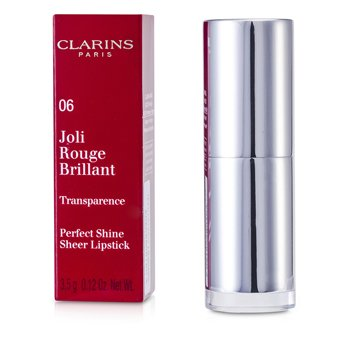 Clarins Pomadka nabłyszczająca Joli Rouge Brillant (Perfect Shine Sheer Lipstick) - #06 Fig  3.5g/0.12oz