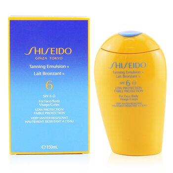 Shiseido რუჯის ემულსია SPF 6 (სახის და ტანისთვის)  150ml