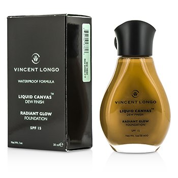 Vincent Longo Liquid Canvas Dew Finish Waterproof Foundation SPF 15 - Rich Sienna  30ml/1oz