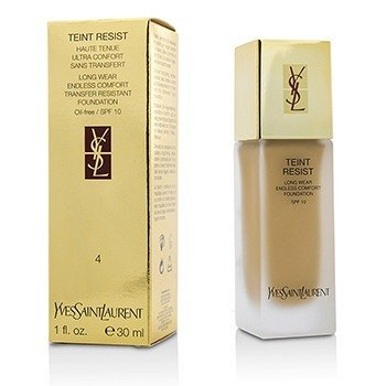 Yves Saint Laurent Teint Resist Long Wear Transfer Resistant Foundation SPF10 (Oil Free) - #04 Sand  30ml/1oz
