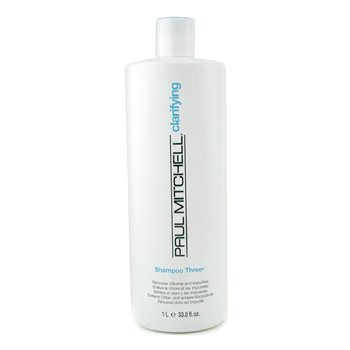 Paul Mitchell Champú Three ( Elimina el Cloro y las Impurezas)  1000ml/33.8oz