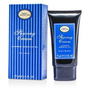 The Art Of Shaving Creme de barbear - Alfazema Óleo essêncial  75ml/2.5oz