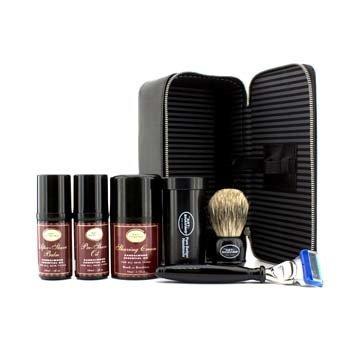 The Art Of Shaving Set de Viaje ( S�ndalo ): Maquinilla + 4 Cuchillas + Aceite Pre-Afeitado + Crema Afeitado +B�lsamo A/S + Neceser  5pcs+1case