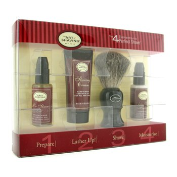 The Art Of Shaving Starter Kit - Sandalwood: Pre Shave Oil + Shaving Cream + Brush + After Shave Balm  4pcs