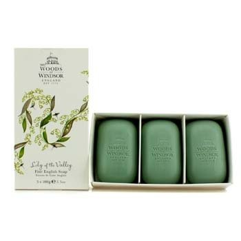 Woods Of Windsor Sabonete Lily Of The Valley Fine English  3x100g/3.5oz