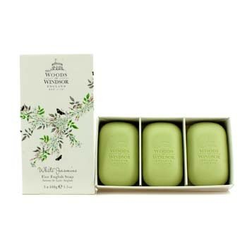 Woods Of Windsor White Jasmine Fine Jab�n Ingl�s  3x100g/3.5oz