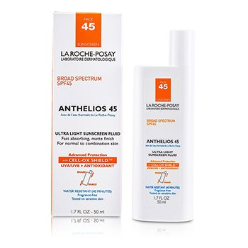 La Roche Posay Anthelios 45 Ultra Light Sunscreen Fluid For Face (N/C Skin)  50ml/1.7oz