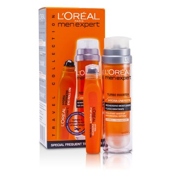 L'Oreal Men Expert Set: Hydra Energetic Turbo Booster + Ice Cool Eye Roll-On  2pcs