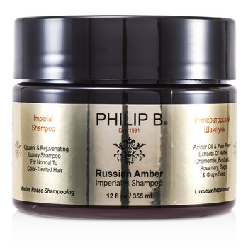 Philip B Russian Amber Imperial Champú ( Para Cabello Mormal a Tratado con Color )  355ml/12oz