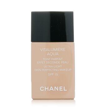 Chanel Base liquida Vitalumiere Aqua Ultra Light Skin Perfecting Make Up SFP 15 - # 40 Beige  30ml/1oz