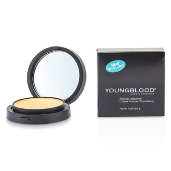 Youngblood Mineral Radiance Creme Powder Foundation - # Warm Beige  7g/0.25oz