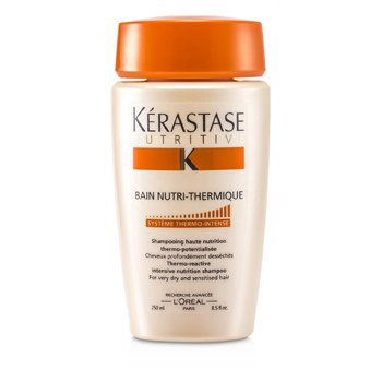 Kerastase Nutritive Bain Nutri-Thermique Thermo-Reactive Intensive Nutrition Shampoo ( Para sa Lubhang Dry at Sensitibong Buhok )  250ml/8.5oz