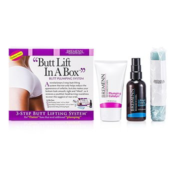 Bremenn Research Labs Butt Lift In A Box: 1x Butt Plumping Catalyst Cream 118ml/4oz + Butt Lifting & Firming Emulsion 118ml/4oz + Exercise Band 1pc  3pcs
