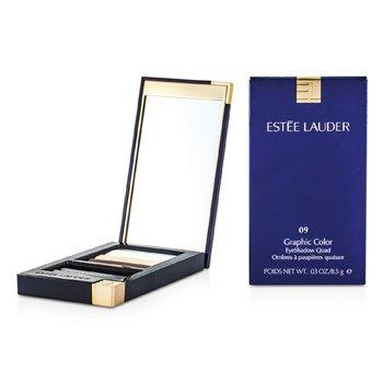 Estee Lauder Graphic Color Eyeshadow Quad - No. 09 Sizzling Coral  8.5g/0.029oz