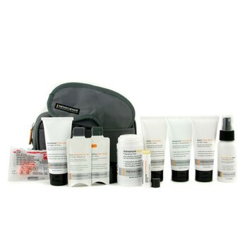 Menscience Kit de viagem :Loção facial  + Loção +Formula  de barbear+ Post-Shave Repair + Shampoo + Deodorant + Proteçao labial + Mascara p/ os olhos + Tampão de olheira + Nescessaire  9pcs+1bag
