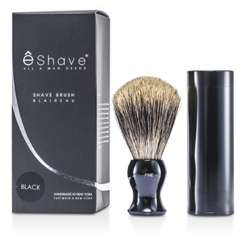 EShave Travel Brush Fine With Canister - Black  1pc