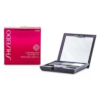 Shiseido Luminizing Satin Eye Color Trio - Pewarna Mata - # GY901 Snow Shadow  3g/0.1oz