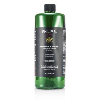Philip B Peppermint & Avocado Champú Aclarador y Volumen  947ml/32oz