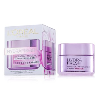 L'Oreal Hydra Fresh Hydration+ Antiox Emulsión Activa Suprema  50ml/1.7oz