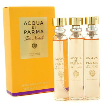 Acqua Di Parma Iris Nobile Leather Purse Spray Refills Eau De Parfum  3x20ml/0.7oz