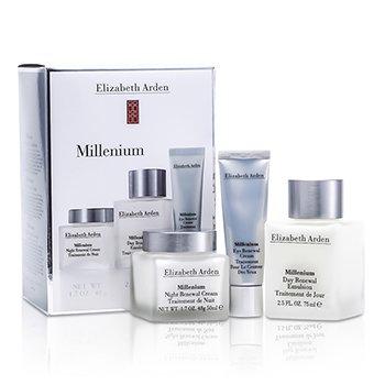 Elizabeth Arden Millenium Kit: Day Renewal Emulsion + Night Renewal Creme + Creme renovador p/ os olhos Creme  3pcs