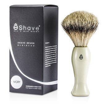 EShave Brocha de Afeitar Larga de Tejón Más Fino - White  1pc